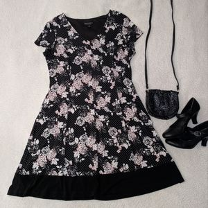 Floral and dot dress size 14 ~EUC~